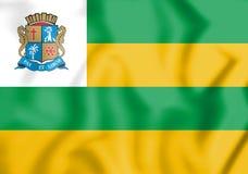 3D Flag of Aracaju, Brazil. Stock Photo