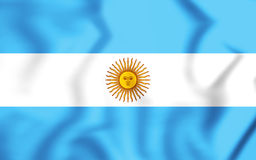 3D Flag of the Argentina. Royalty Free Stock Image