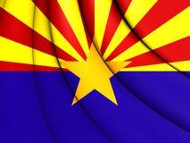 3D Flag of Arizona, USA. Stock Image