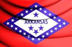 3D Flag of Arkansas, USA. Stock Image