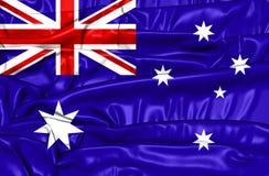 3D Flag of the Australia. Stock Images