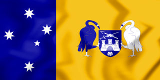 3D Flag of Australian Capital Territory. Royalty Free Stock Photos