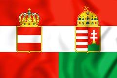 3D Flag of Austria-Hungary 1867-1918. Royalty Free Stock Photos