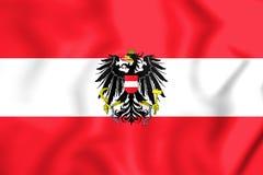 3D Flag of the Austria. Stock Photos