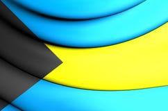 3D Flag of Bahamas Stock Image