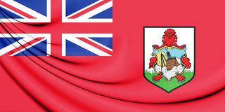 3D Flag of Bermuda. Stock Photos