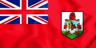 3D Flag of Bermuda. Royalty Free Stock Photo