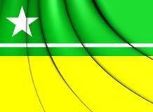 Flag of Boa Vista City Roraima, Brazil. 3D Flag of Boa Vista City Roraima, Brazil Royalty Free Stock Image