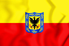 3D Flag of Bogota, Colombia. Stock Images