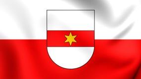 Flag of Bolzano City, Italy. Stock Images