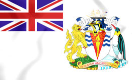 3D Flag of the British Antarctic Territory. Royalty Free Stock Images