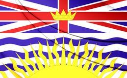 Flag of British Columbia, Canada. 3D Flag of British Columbia, Canada. Close Up Royalty Free Stock Photography