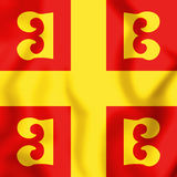 3D Flag of the Byzantine Empire. 3D Illustration Stock Photo