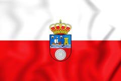 3D Flag of Cantabria, Spain. Royalty Free Stock Photos