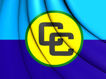 3D Flag of Caribbean Community CARICOM. 3D Illustration Royalty Free Stock Photos