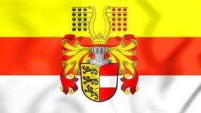 3D Flag of Carinthia, Austria. Stock Photo