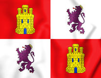 3D Flag of Castile and Leon, Spain. 3D Illustration royalty free illustration