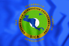 3D Flag of the Central American Integration System. Royalty Free Stock Photo