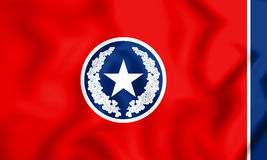 3D Flag of Chattanooga Tennessee, USA. Royalty Free Stock Photos