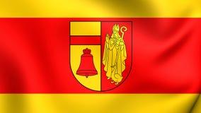 Flag of Coesfeld, Germany. Stock Photography