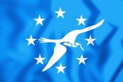 3D Flag of Corpus Christi Texas, USA. Stock Image