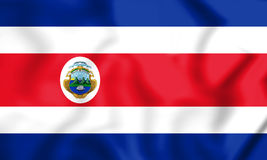 3D Flag of Costa Rica. Stock Photography