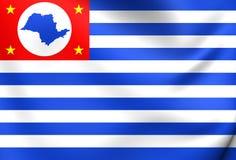 Flag of Cruzeiro City, Brazil. 3D Flag of Cruzeiro City, Brazil. Close Up Royalty Free Stock Photo