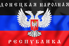 3D Flag of the Donetsk People`s Republic. Royalty Free Stock Photography