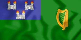 3D Flag of Dublin, Ireland. Royalty Free Stock Photo