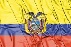 3D Flag of the Ecuador. Stock Photos