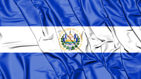 3D Flag of the El Salvador. Royalty Free Stock Images