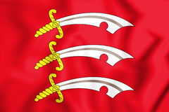3D Flag of Essex, England. Royalty Free Stock Photo