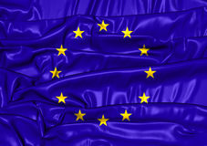 3D Flag of European Union. Royalty Free Stock Photos