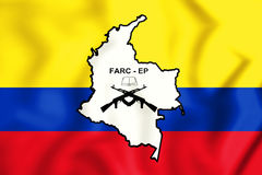 3D Flag of the FARC-EP. 3D Illustration Royalty Free Stock Photo