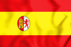 3D Flag of First Spanish Republic. Stock Photos