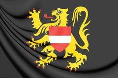 3D Flag of Flemish Brabant, Belgium. Royalty Free Stock Image