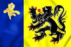 3D Flag of Flemish Community Commission. 3D Illustration vector illustration