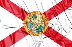 3D Flag of Florida, USA. Royalty Free Stock Image