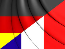 3D Flag of France and Germany. Royalty Free Stock Photos