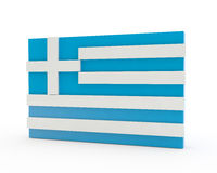 3d flag of Greece Stock Photo