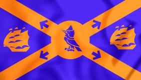 3D Flag of Halifax, Canada. Stock Photos