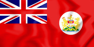 3D Flag of Hong Kong 1959-1997. Stock Photography