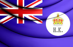 3D Flag of Hong Kong 1871. Stock Photo