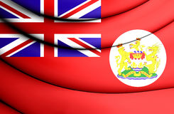 3D Flag of Hong Kong 1959-1997. Red ensign. Stock Photography