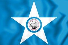 3D Flag of Houston Texas, USA. Royalty Free Stock Photography