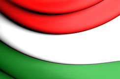 3D Flag of Hungary Stock Image