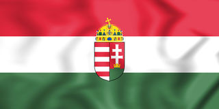 3D Flag of Hungary. Royalty Free Stock Photography