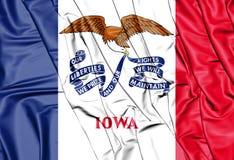 3D Flag of Iowa, USA. Stock Image