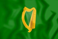 3D Flag of Leinster Province, Ireland. Stock Photo