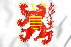 3D Flag of Limburg Province, Belgium. 3D Illustration Stock Image